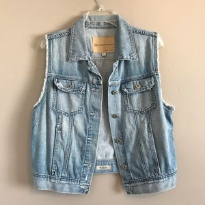 AG Adriano Goldschmied Denim Vest the Heather